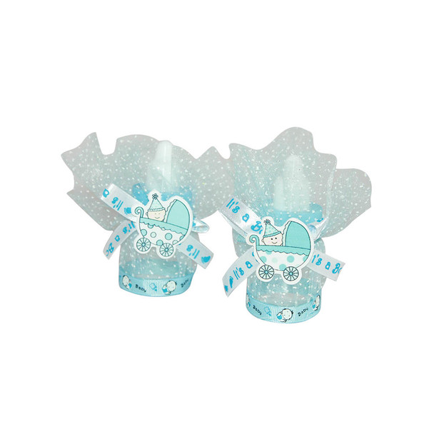 """3.5""""  Baby Boy Bottle with Tulle"""