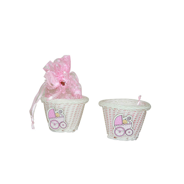 """2.5""""  Baby Girl Basket with Pouch"""
