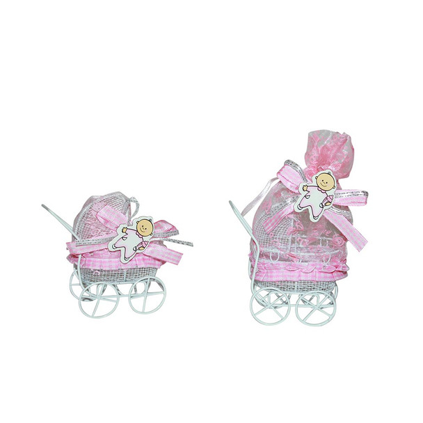 """4""""  Baby Girl Carriage  with Pouch"""