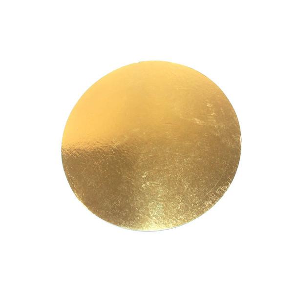 """10"""" Gold Circle Cake Pad"""