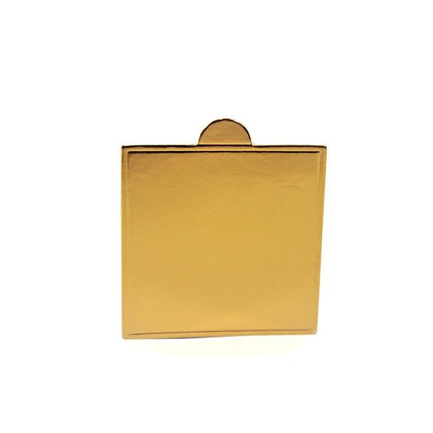 """2 5/8"""" Gold Mini Dessert Pad"""