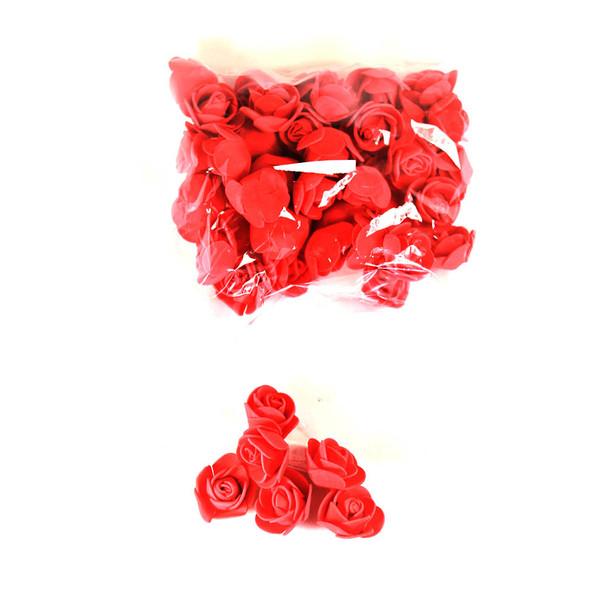 """1"""" Red Foamy Flowers"""