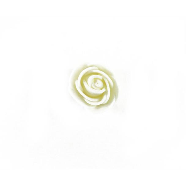 """1"""" Ivory Foamy Flowers"""