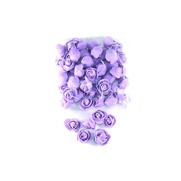 """1"""" Purple Foamy Flowers"""