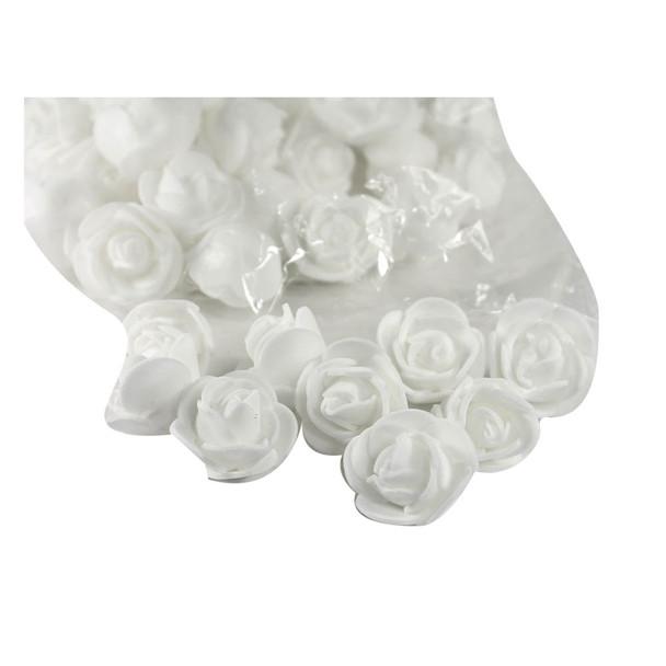 """1"""" White Foamy Flowers"""