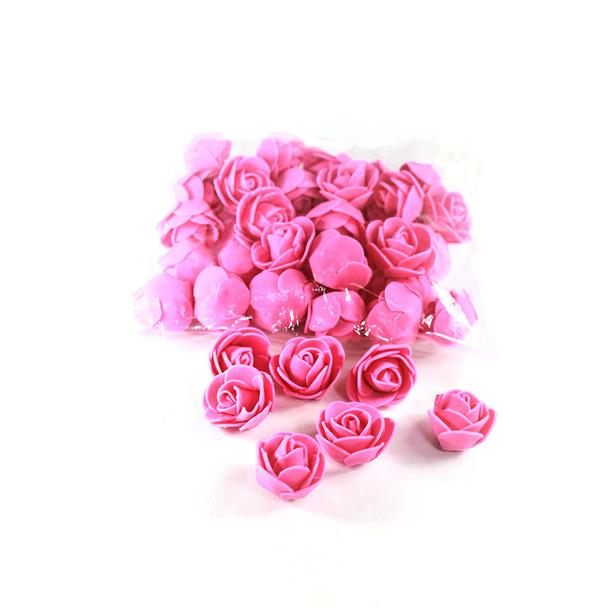 """1"""" Fuchsia Foamy Flowers"""