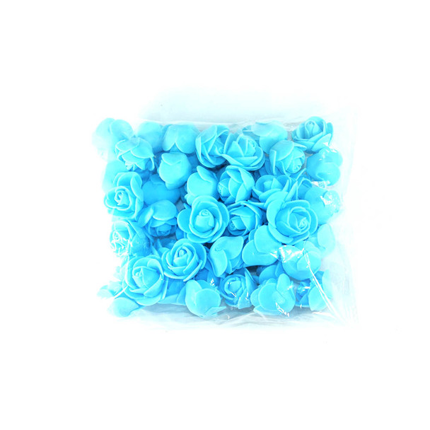 "1"" Blue Foamy Flowers"