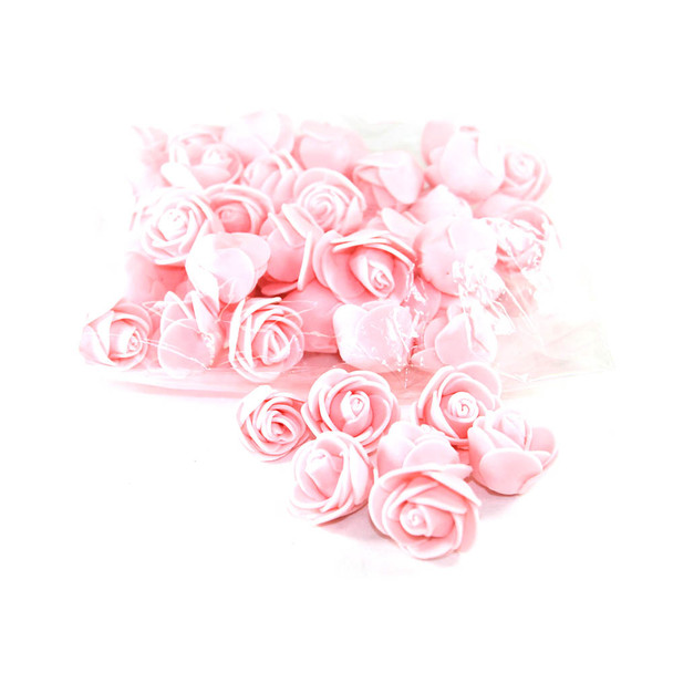 """1"""" Pink Foamy Flowers"""