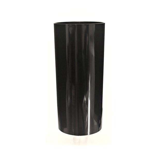 9.75''H Black Acrylic Cylinder Vase