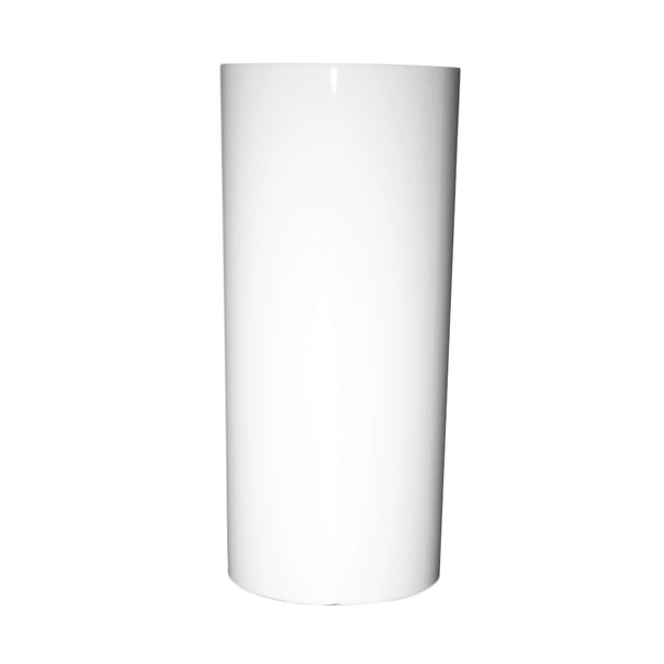 9.75''H White Acrylic Cylinder Vase