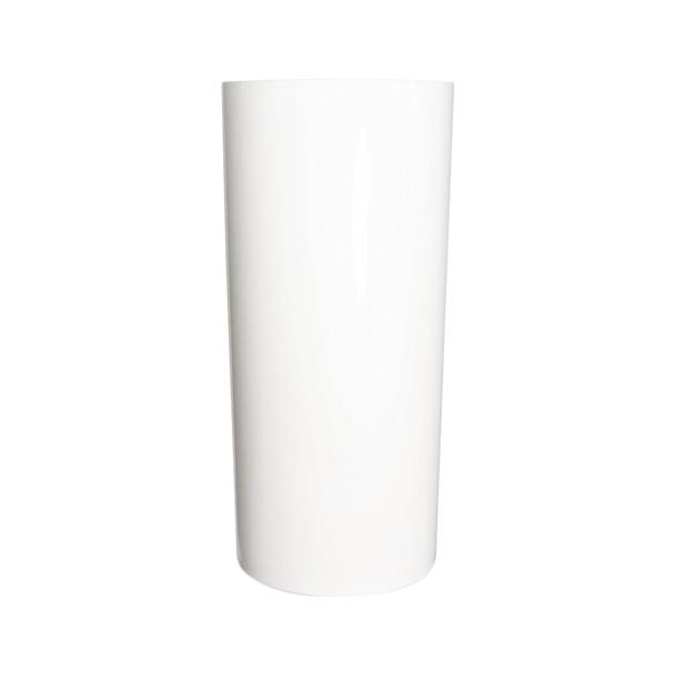 11.75''H White Acrylic Cylinder Vase