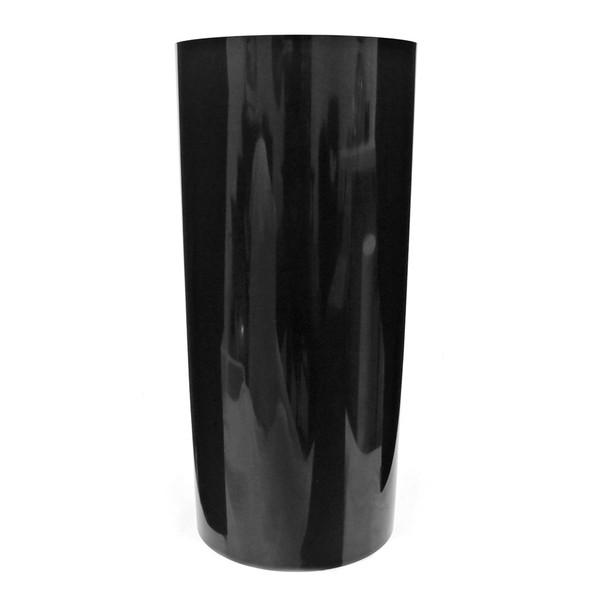 19.75''H Black Acrylic Cylinder Vase