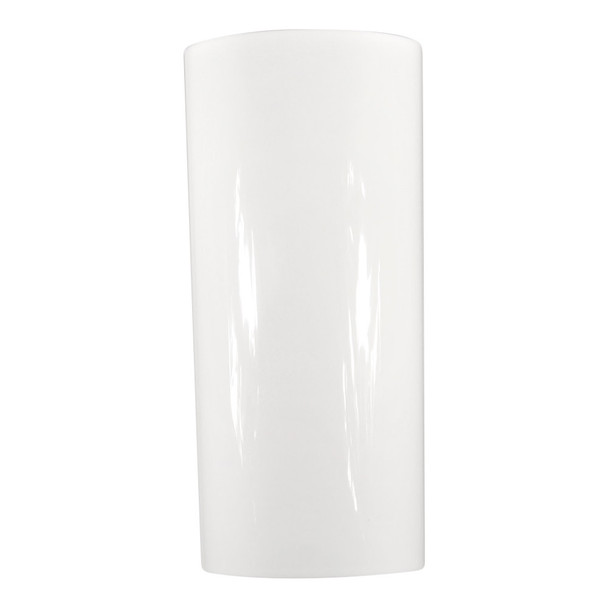 19.75''H White Acrylic Cylinder Vase