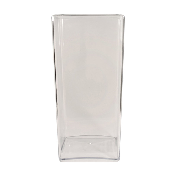 10''H Clear Acrylic Square Vase