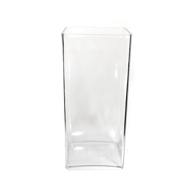 12''H Clear Acrylic Square Vase