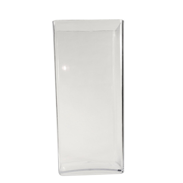 """15.75""""H Clear Acrylic Square Vase"""