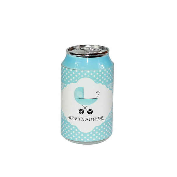 "3.5"" Blue Baby Shower Soda Can"