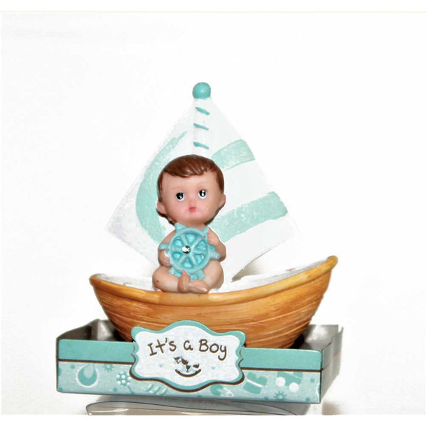 "3.5"" Baby Boy With Boat"