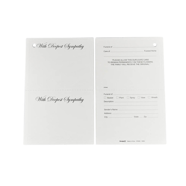 25 Assorted Plain /& Remembrance Florist Gift Cards Funeral /& Cello Envelopes