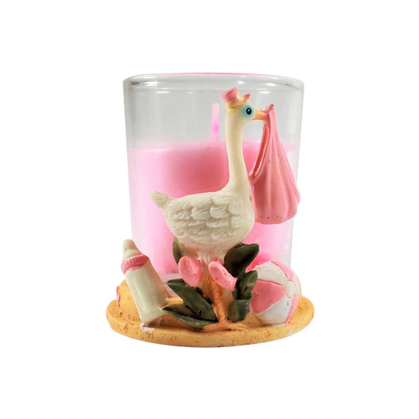 "2.75""  Stork Votive With Candle"