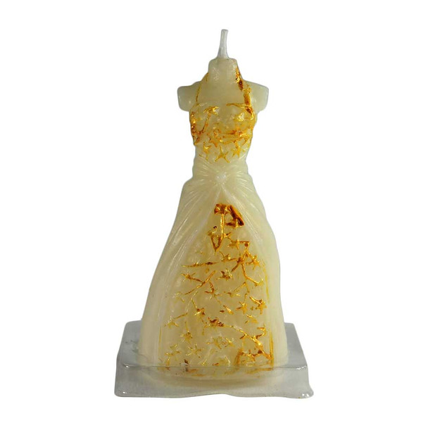"""4"""" Gold Dress Candle"""