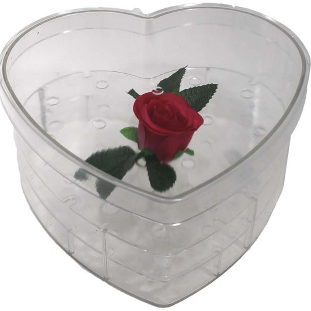 "Acrylic Heart Box - Medium - 9"""