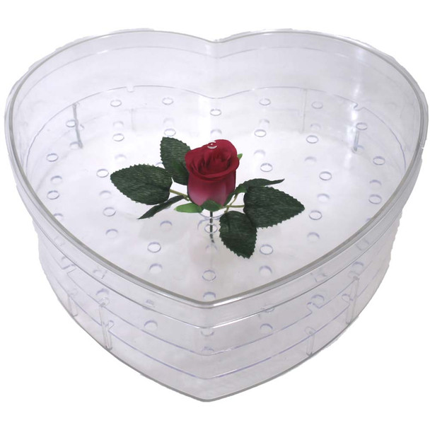 "Acrylic Heart Box - Large - 13"" 36 Holes"
