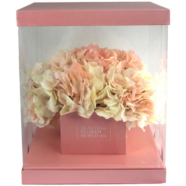 Large Pink Flower Display Box