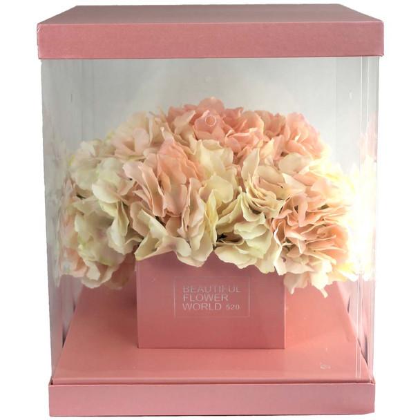 Large Pink Flower Display Box