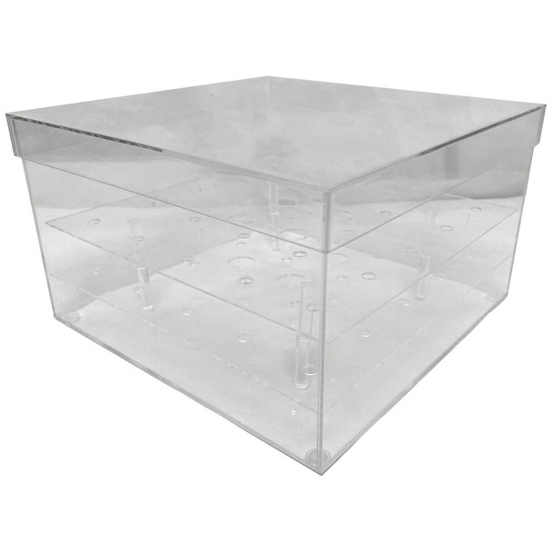 "10"" Clear Acrylic Square Flower Box"