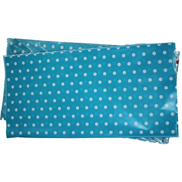 """22"""" Blue Polka Dot Cellophane Sheets - 50 Sheets"""