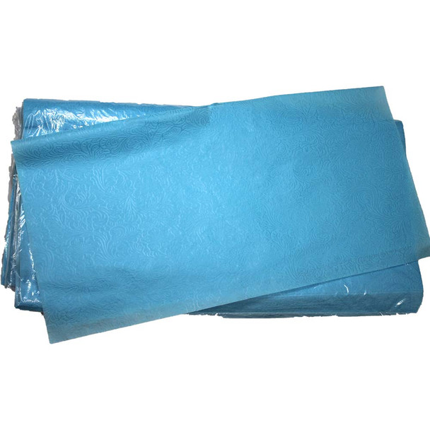 """24"""" Light Blue Non-Woven Floral Wrapping Paper -  50 Sheets"""