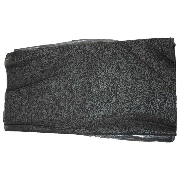 "24"" Black Non-Woven Floral Wrapping Paper -  50 Sheets"