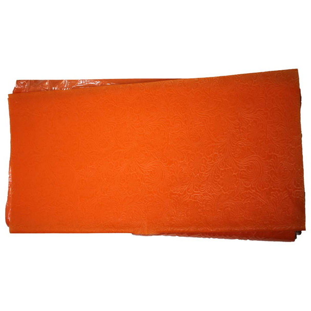 """24"""" Orange Non-Woven Floral Wrapping Paper -  50 Sheets"""