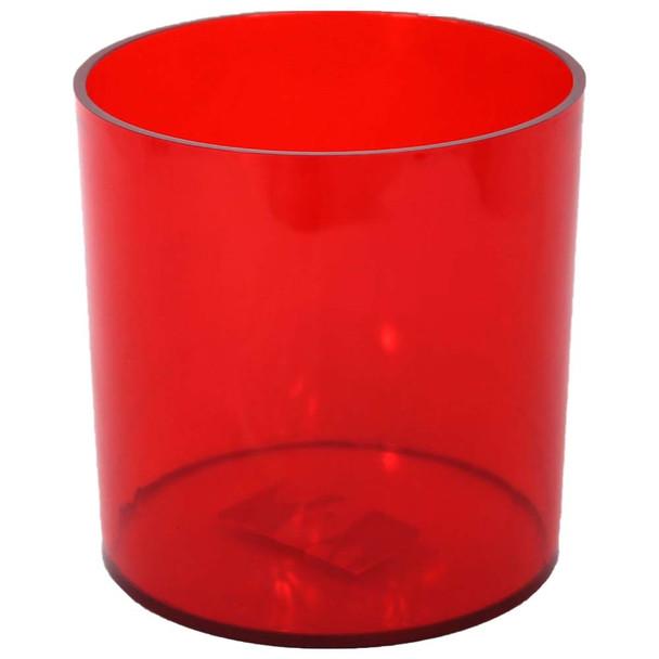 """5"""" Red Acrylic Cylinder Vase"""