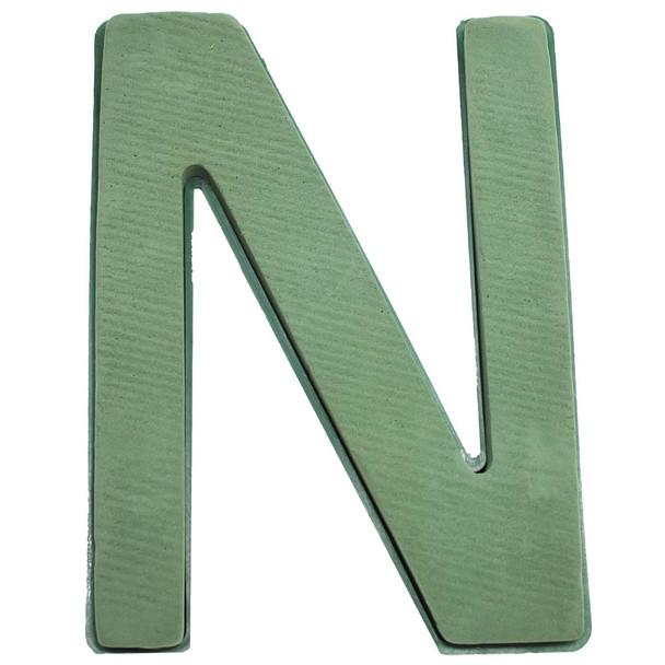 "12"" Fresh Floral Foam Letter ""N"""