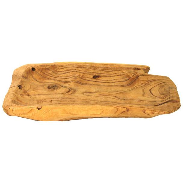 """14"""" Natural Wood Log Tray"""