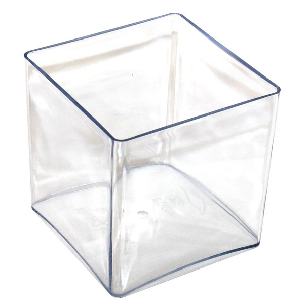 "4"" Clear Acrylic Square Vase"