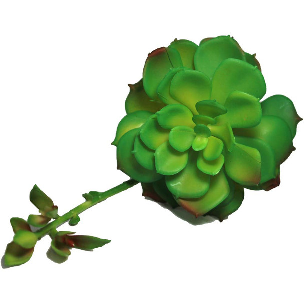 "4"" Green Artificial Succulent with Flower"
