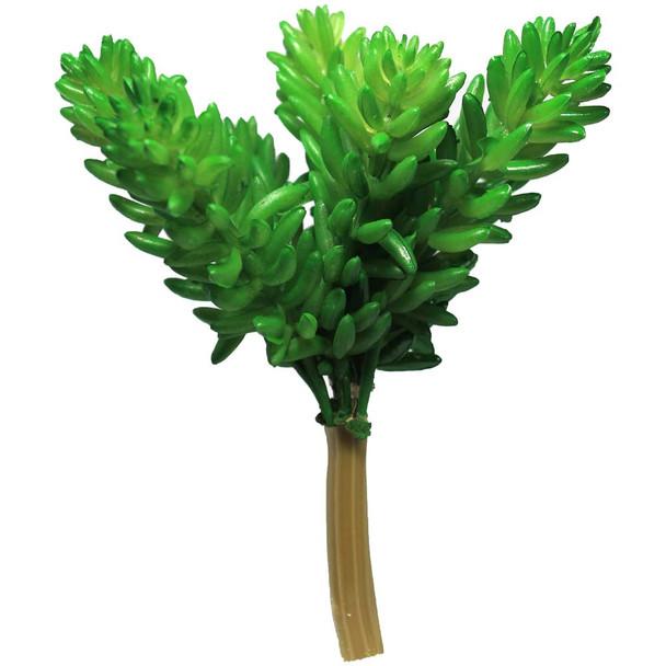 "3"" 7 Stem Green Artificial Succulent Plant"