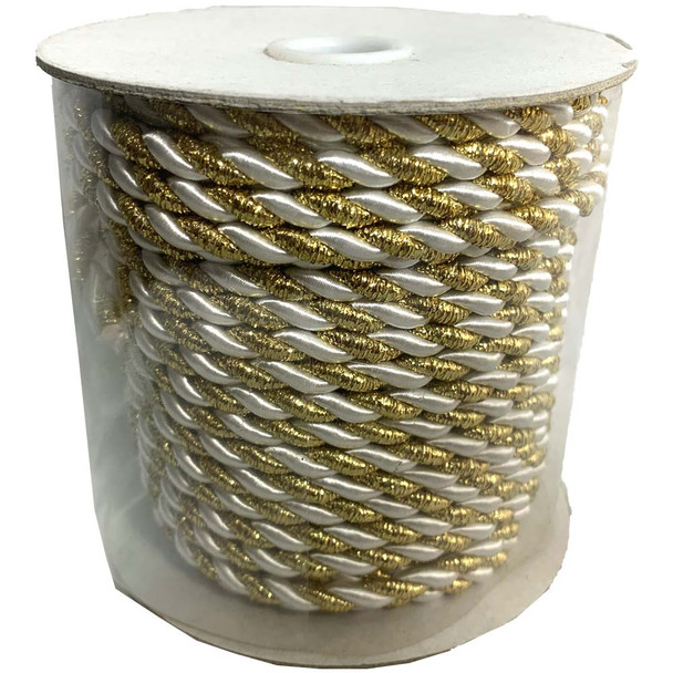 Gold & White Decorative Rope
