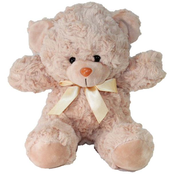 "7"" Ivory Teddy Bear with Ribbon"