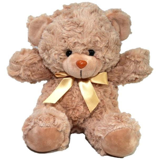 "7"" Tan Teddy Bear with Ribbon"