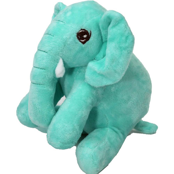 "7"" Aqua Elephant Stuffed Animal"