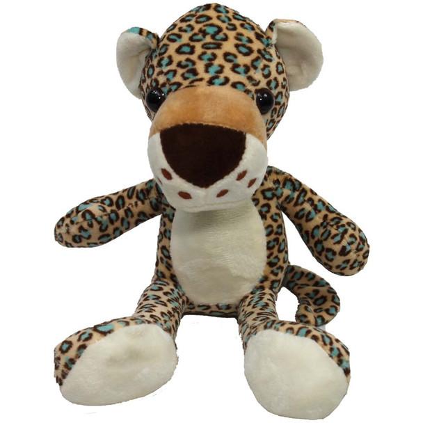 "8"" Brown Leopard Stuffed Animal"