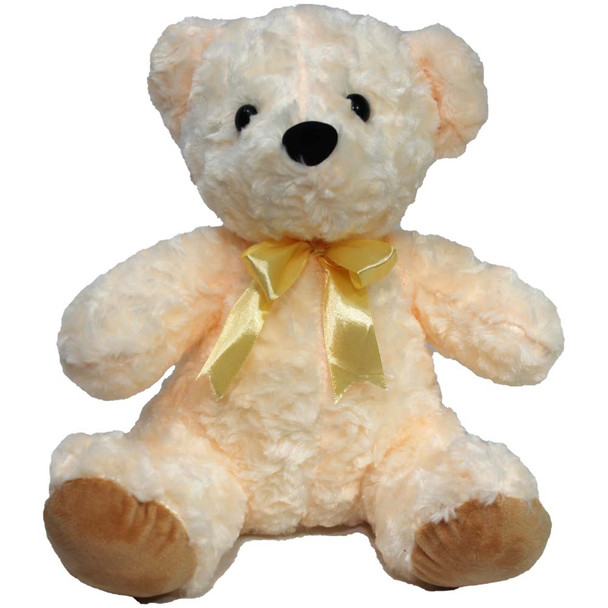 "11"" Ivory Teddy Bear with Ribbon"