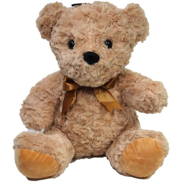 "11"" Tan Teddy Bear with Ribbon"