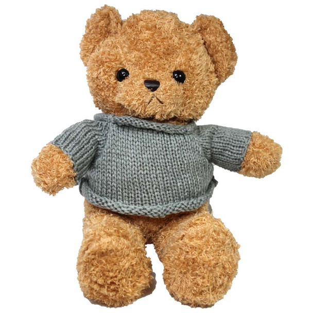 "14"" Honey Teddy Bear with Sweater"