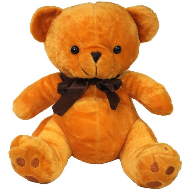 "10"" Caramel Teddy Bear with Ribbon"