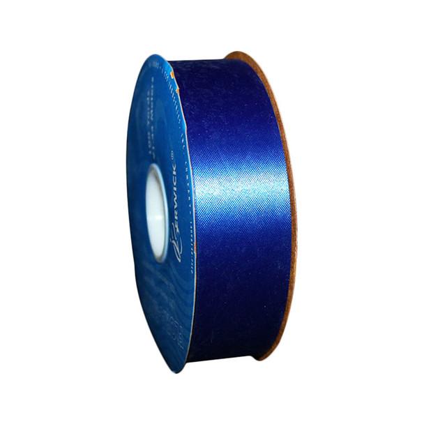 "1 7/16"" Navy Blue Flora-Satin Ribbon"